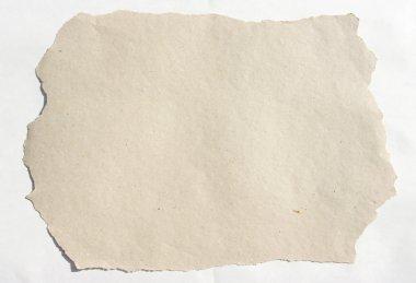 Burnt paper over white background stock vector