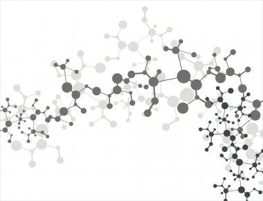 Molecule background stock vector