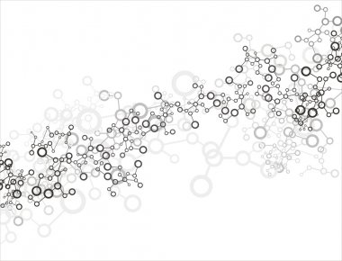 Molecule background stock vector