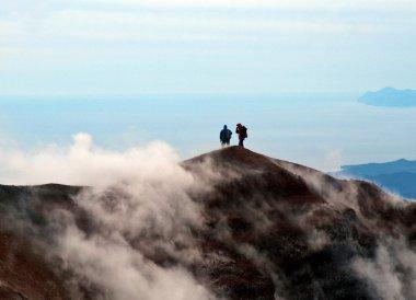 On the top of volcano. Kamchatka