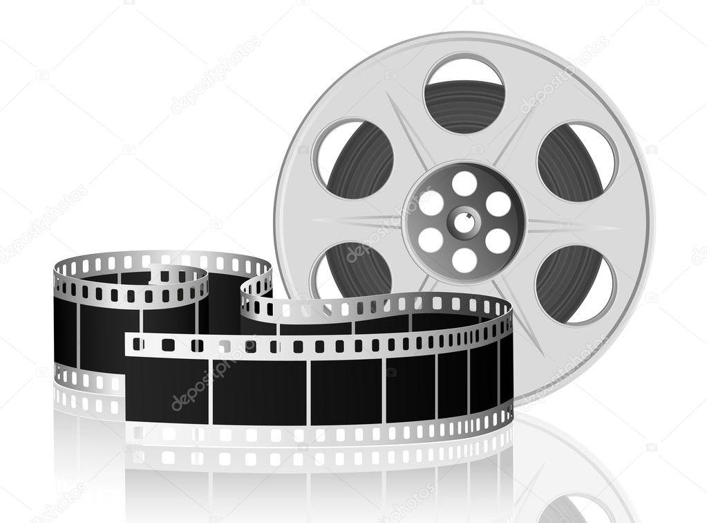 映画用フィルムをツイスト。ベク...
