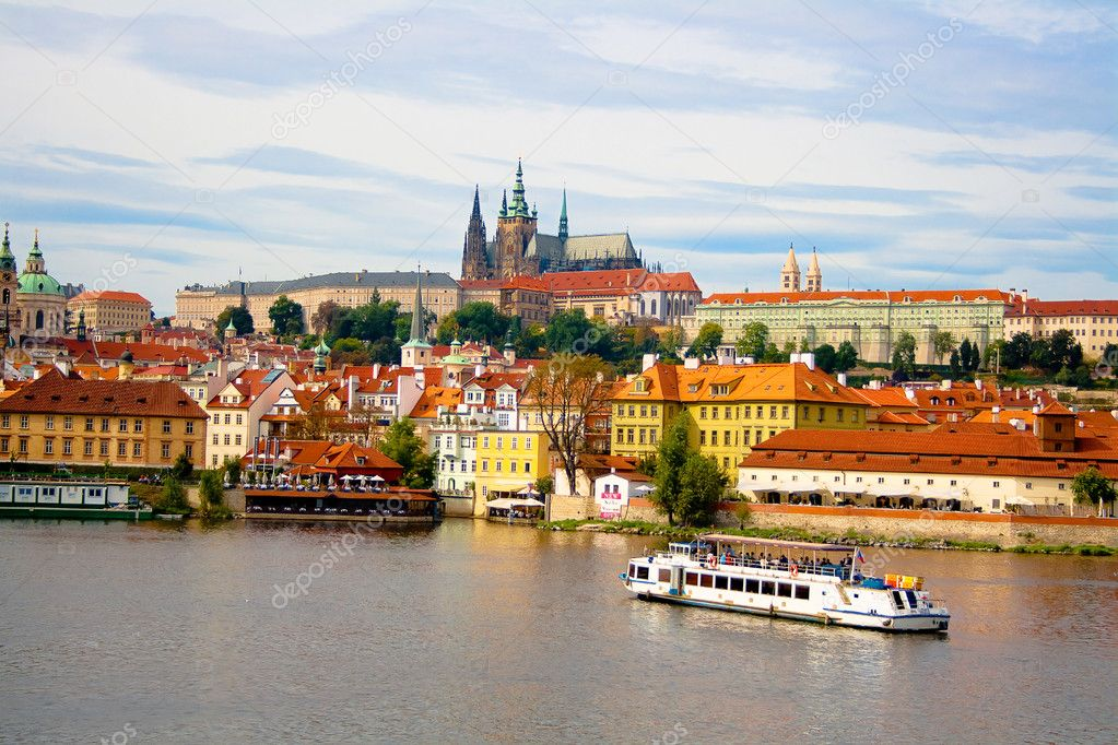 View from Charles Bridge in Prague.
