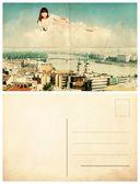 Rückseite der alten Postkarte