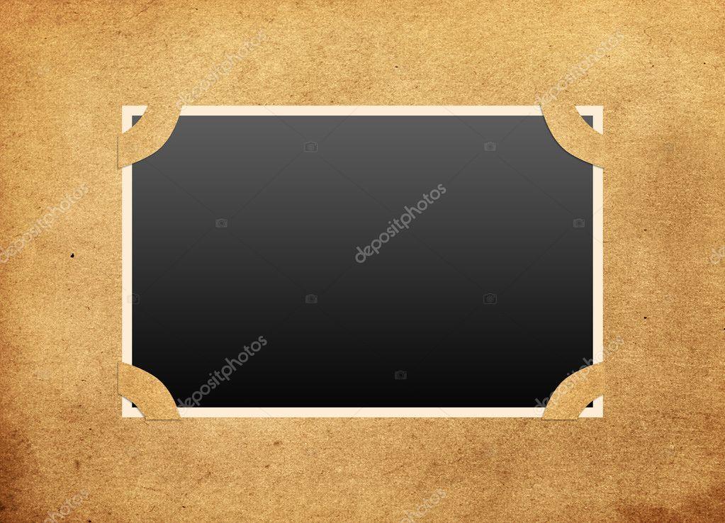 marco en viejo álbum de fotos — Foto de stock © mirabellart #4678476