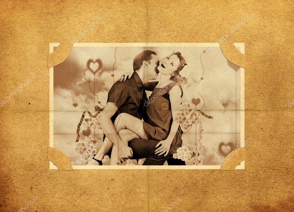 marco en viejo álbum de fotos — Foto de stock © mirabellart #4678480