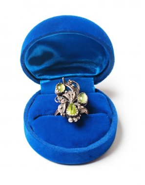 Vintage ring in blue box