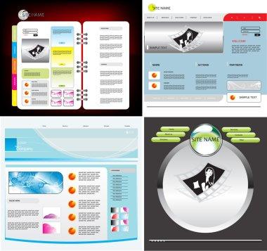 Set vector web template