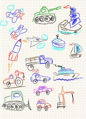 Vector elements of design stylised under children