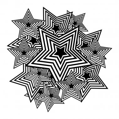 Vector stars. Pop-art background.