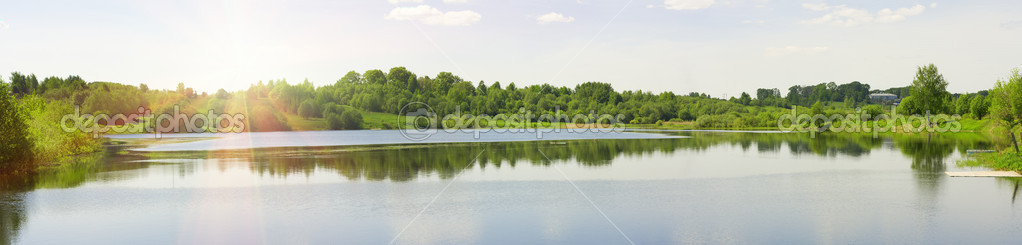 Panorama of a summer landscape