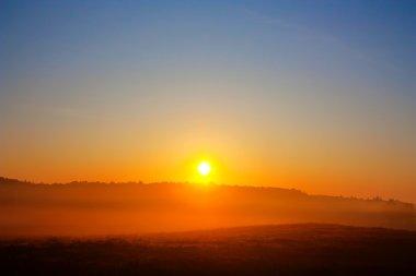 Dawn, rural landscape