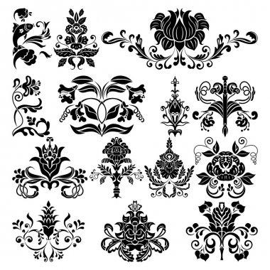 Border vector ornament elements