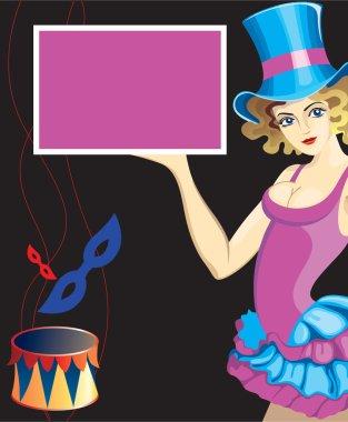 Carnival vector design on black background