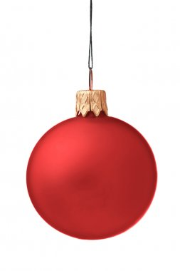 Christmas bauble isolated