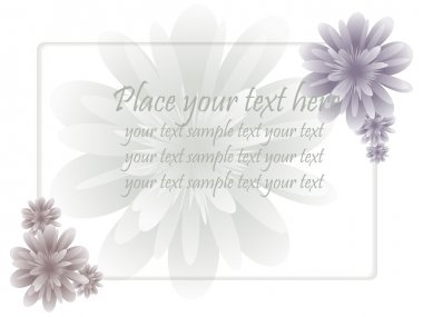 Frame with flower and text in pastel tones