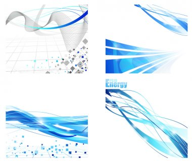 Futuristic backgrounds collection