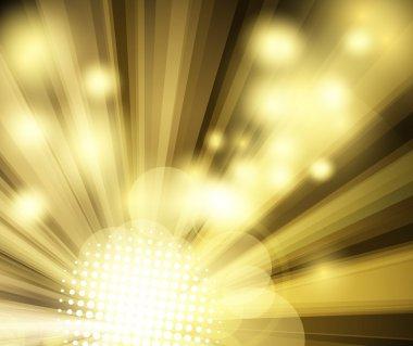 Golden bright disco club background