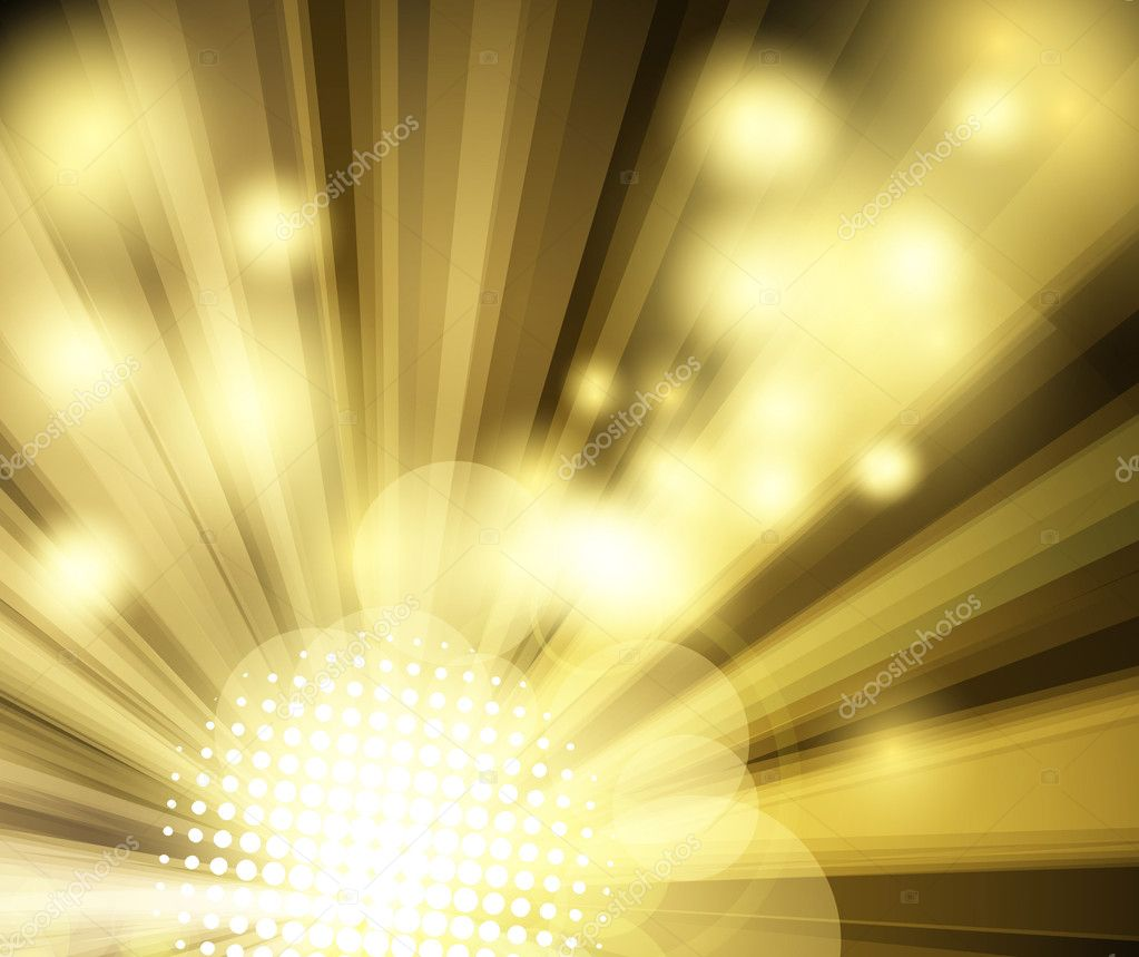 Golden bright disco club background