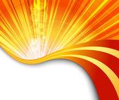 Sunburst lobogó narancssárga háttér