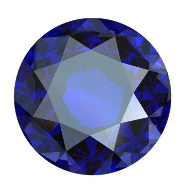 Round brilliant cut diamond perspective isolated