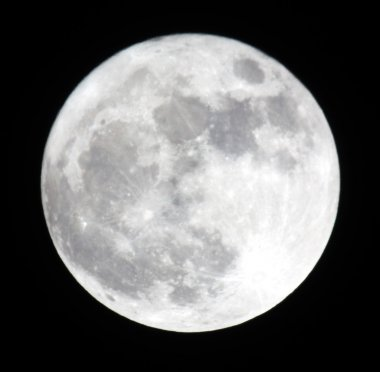 Phase of the moon, full moon. Ukraine, Donetsk region 19.03.11