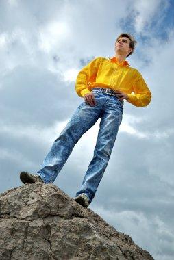 Man in yellow shirt