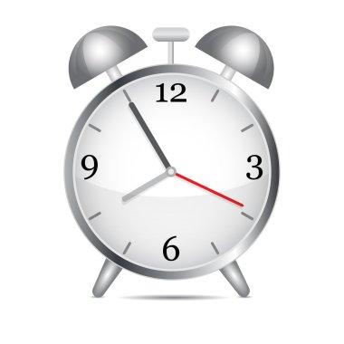 Metal alarm clock.Vector stock vector