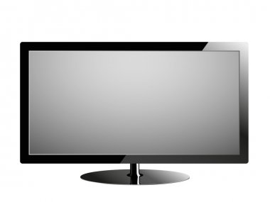 Plasma tv, realistic vector illustration.