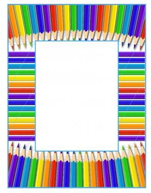 Frame of pencils