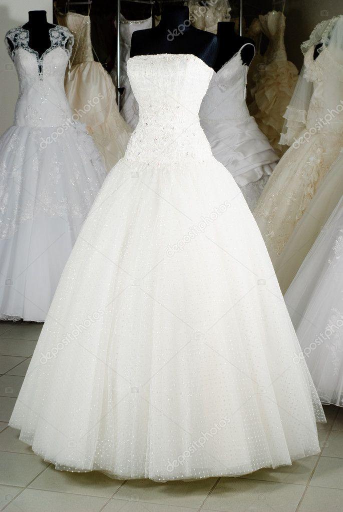 Wedding dress shop stock photo oksixx 5210980 for Wedding dress in stock