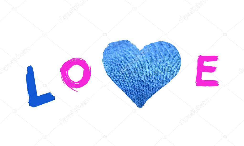 Word Love With Heart Symbol Stock Photo Dink101 4772330