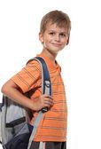 Fotografie chlapec hospodářství knihy