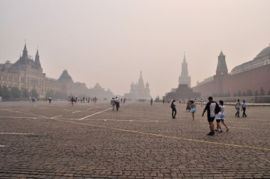 Smog in Moscow, Red Square, August 2010