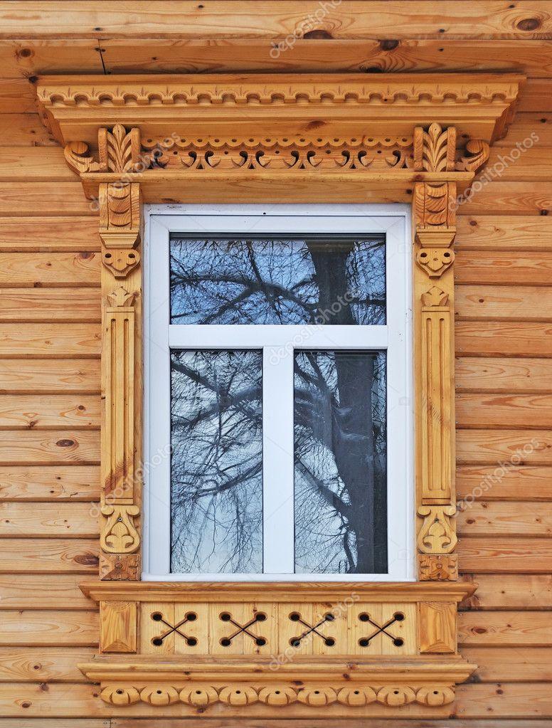 Деревянные дома с резными окнами фото - деревянные наличники.