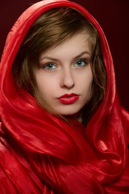 Young girl in a red hood