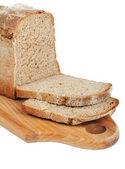 řez bochník chleba na prkénku
