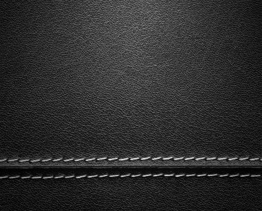 Real close-up of black leather texture stock vector