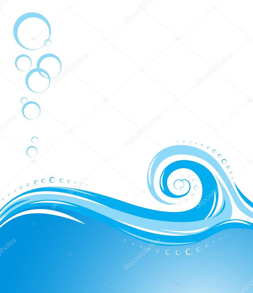 Aqua waves background