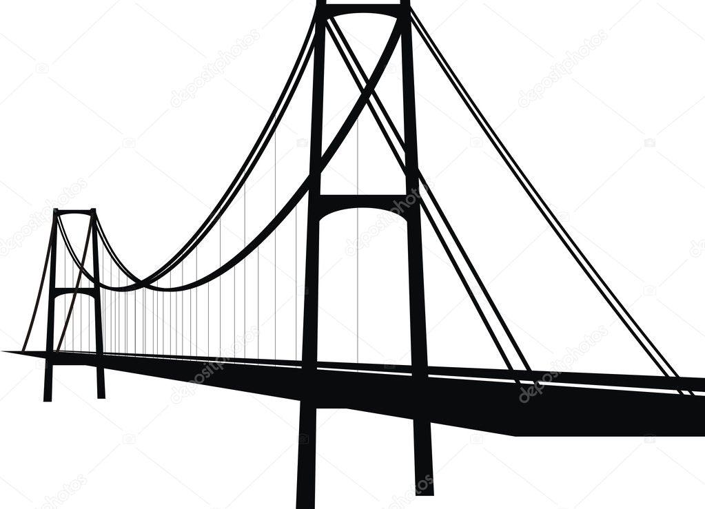 vector suspension cable bridge