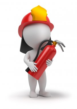 3d small - fireman