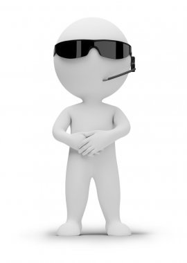 3d small - security guard