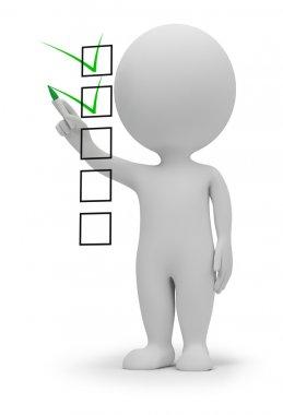 3d small - checklist