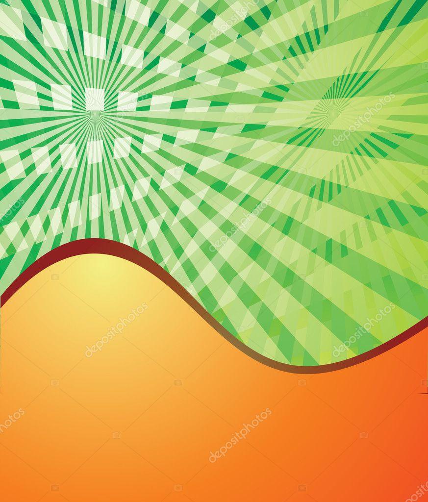 Astratto Sfondo Verde E Arancio Eps10 Vettoriali Stock Innaaf