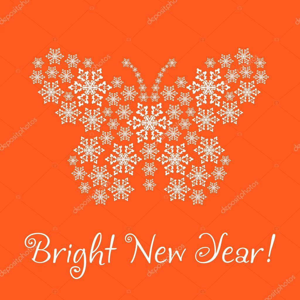 grattis på nytt år Grattis gott nytt år, (kort) .den nyår fjäril f — Stockfotografi  grattis på nytt år