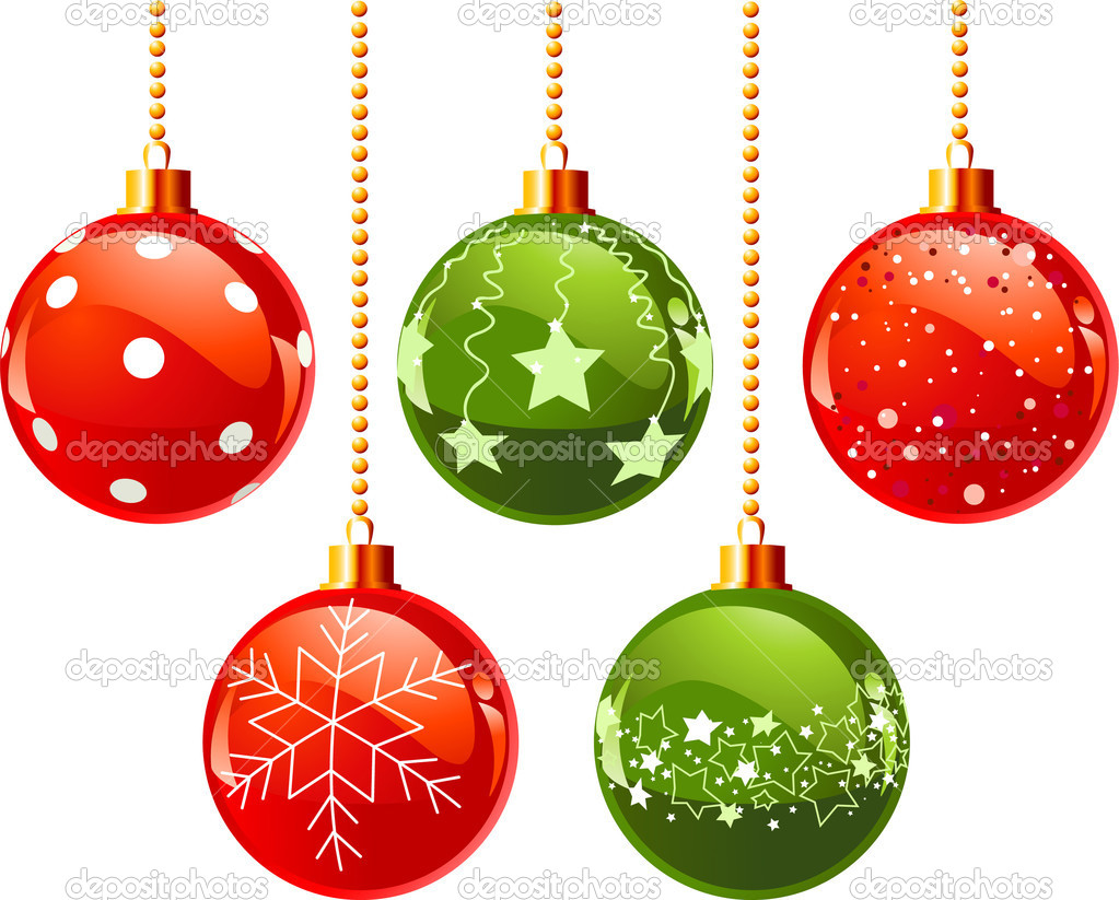Color Christmas balls — Stock Vector © Dazdraperma #4425447