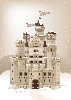 Magic winter Castle invitation card