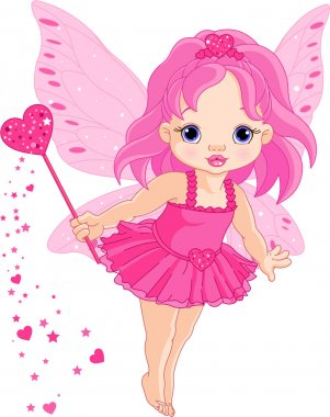 Cute little baby Love fairy