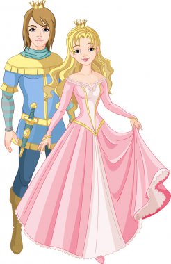 Beautiful prince and princess