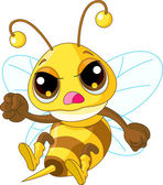 Photo Cute angry Bee