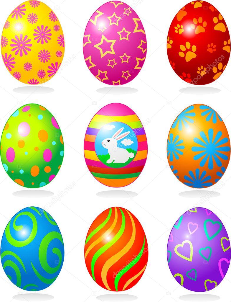 easter eggs u2014 stock vector dazdraperma 5053481